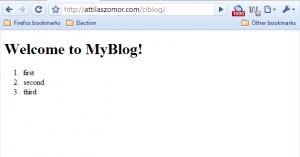 ciBlog displays dynamic content