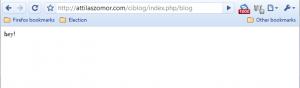 """Browser displays """"hey!"""""""
