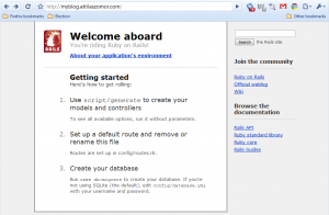 Default  Rails welcome page